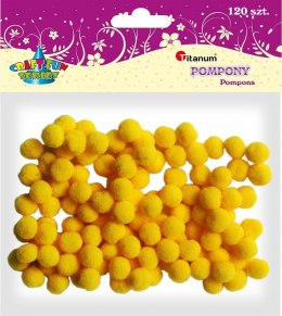 Pompony Titanum Craft-fun Craft-Fun Series żółty 120 szt (0126Y)