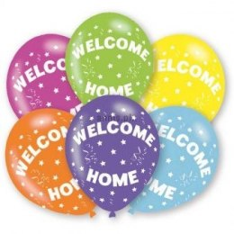 Balon gumowy Amscan WELCOME HOME 6 szt mix (9901029)