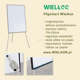 Tablica flipchart Wielkor 700 mm x 1000 mm