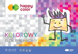 Blok rysunkowy Happy Color A3 kolorowy 80g 15k 297 mm x 420 mm (HA37083040-09)