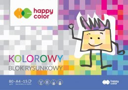 Blok rysunkowy Happy Color Premium A4 kolorowy 80g 15k 210 mm x 297 mm (HA37082030-09)