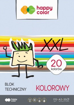 Blok techniczny Happy Color A3 170g 20k 297 mm x 420 mm (HA 3717 3040-09)