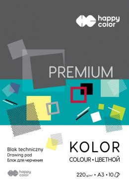 Blok techniczny Happy Color Premium kolorowy A3 mix 220g 10k 297 mm x 420 mm (3722 2040-09)
